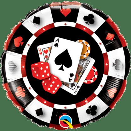 Casino Spielchip Pokerchip Folienballon
