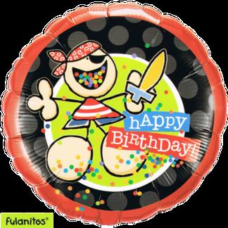 Happy Birthday zum Geburtstag Pirat und Konfetti