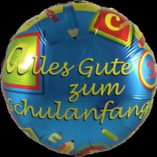 Folienballon zum Schulanfang bunt