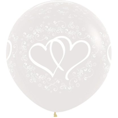 Sempertex Europe Ballons Rundballon 36 Inch entwinted Hearts 390