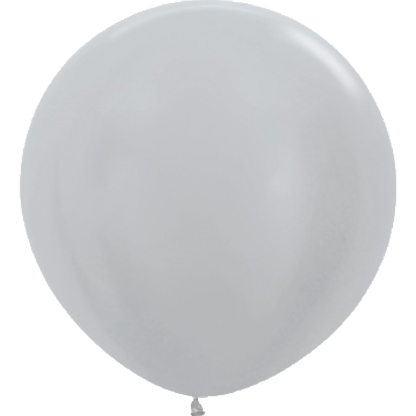 Sempertex Europe Rundballon Satin Silber 36 Inch