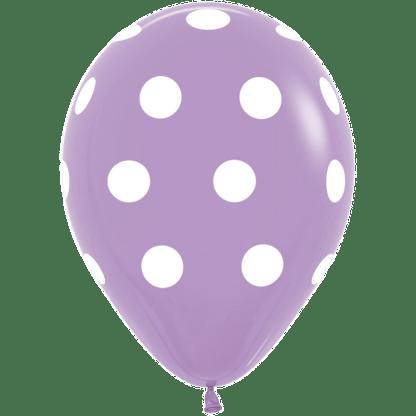 Polka Dots Ballons Lila