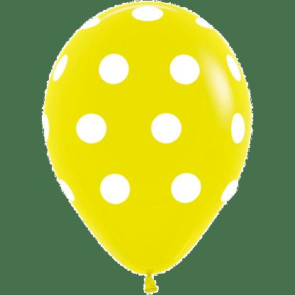 Polka Dots Ballons Gelb
