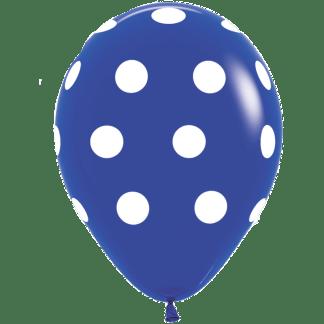 Polka Dots Ballons Dunkelblau 12er