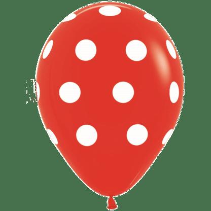 Polka Dots Ballons Rot