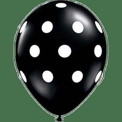 Polka Dots Ballons Schwarz