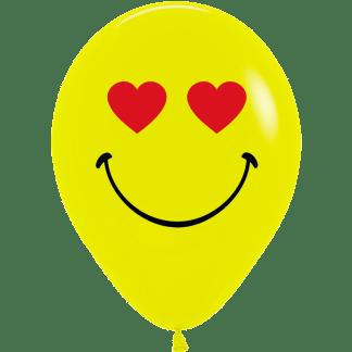 Sempertex Smiley Gesicht Herzen Augen