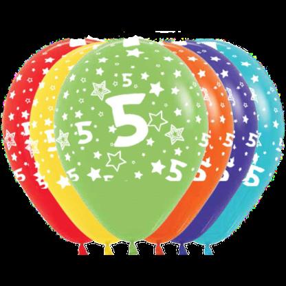 Geburtstag Ballons Fashion Zahl 5 Sterne