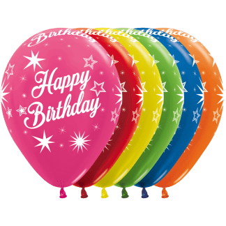 Sempertex Happy Birthday Ballons Pearl Metallic