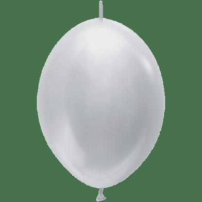 Sempertex Link O Loon 30 cm Pearl Silber