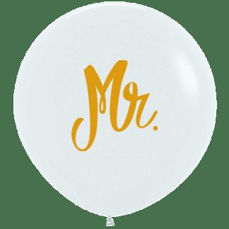 Sempertex Ballon 60 cm Mr. Weiss / Gold
