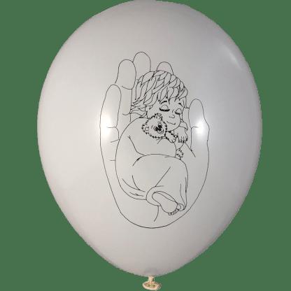 Geburt und Taufe Kind in Hand 30 cm Weiss