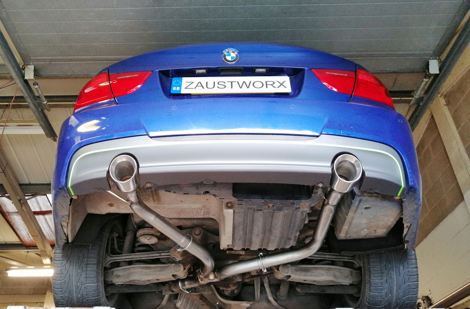 bmw 320d 335 style twin exit rear exhaust conversion