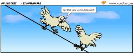 Online chat cartoon - birds on a wire