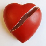 broken heart, sliced heart