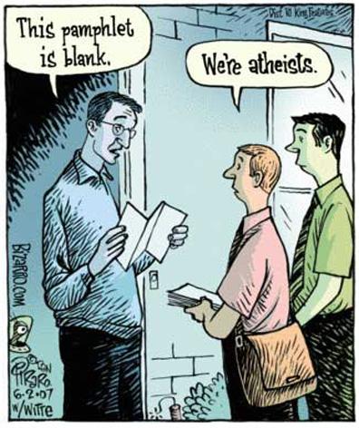 Atheist, atheism cartoon