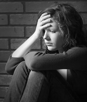 Worried girl, unhappy girl, anxious girl