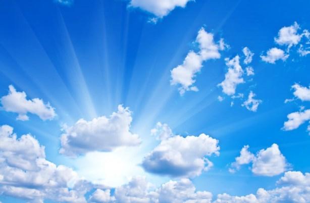 Blue sky and sun ays