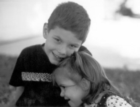 Brother and sister, boy and girl, children