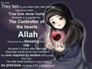 True love comes from Allah (swt) alone; rest are shaytan's whispers to trick us.