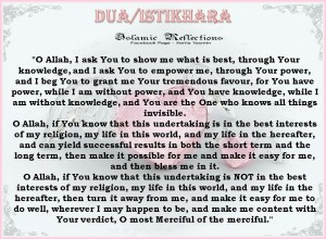 Istikhara for marriage by a shaykh based on parents names english translation of the dua for istikhaarah altavistaventures Image collections