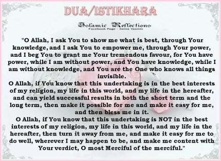 English Translation of the Dua for Istikhaarah