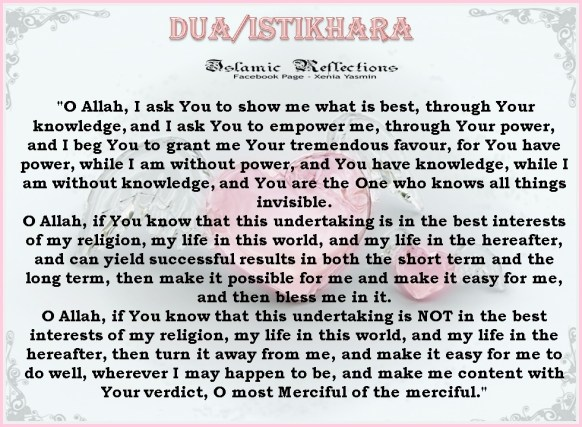 English Translation of the Dua for Istikhaarah
