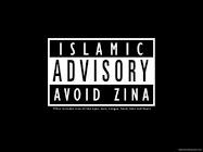 advisory avoid zina