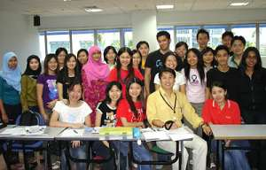 Korean class, Korean students.