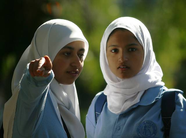 Two Muslim girls.