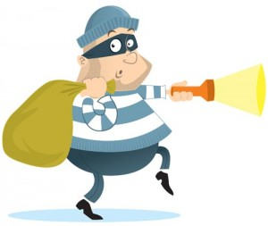 Thief with bag of loot