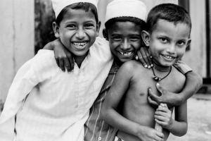 Three Muslim boys from Sri Lanka