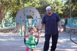 Wael and Salma at the park