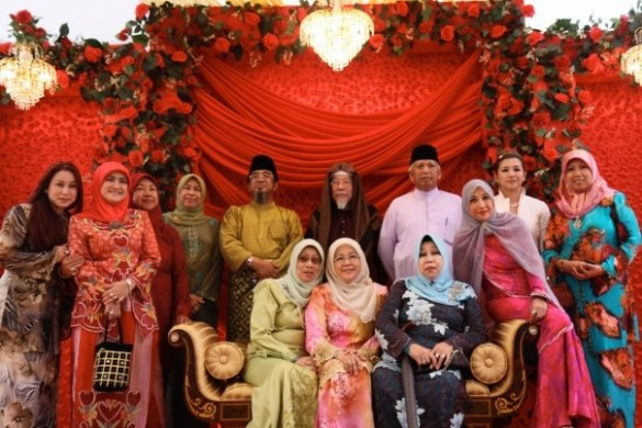 A Muslim wedding in Brunei Darussalam.