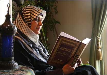 Magda Amer works to spread Islamic education among women in Egypt.