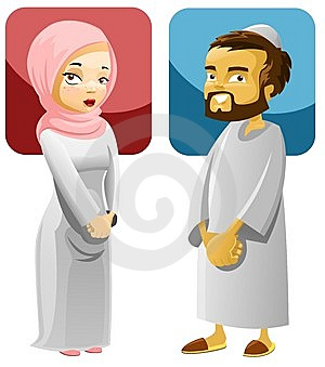 Interracial Muslim couple