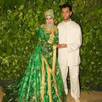 then the bride looks like a forest queen in a green dress