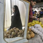 Lebanese woman shopping for Ramadan