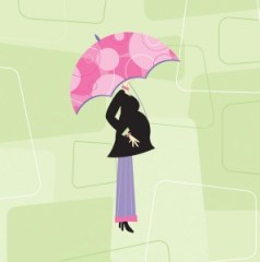 Pregnant woman cartoon image