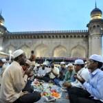 Breaking Ramadan fast at Mecca Masjid in Hyderabad