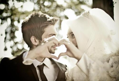 Newlywed Muslim couple
