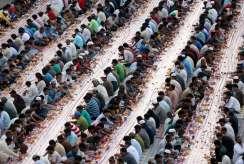 Iftar time (breaking fast) in Dubai, UAE.