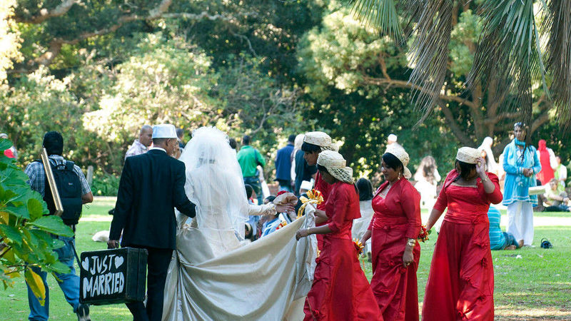 Muslim wedding party in Capetown South Africa