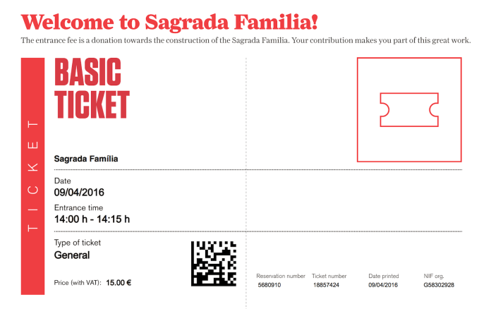 Bilety Sagrada Familia info