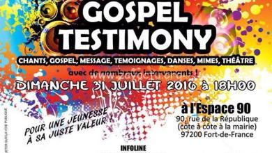 """Photo of """"Gospel Testimony"""" c'est ce dimanche 31 juillet à l'Espace 90"""