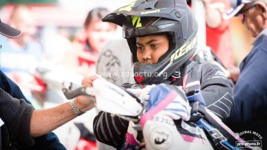Photo of Axel Marie-Luce champion de France de supermotard S2 junior