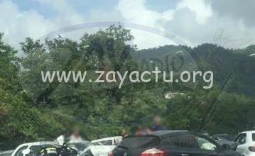 Photo of Accident de la route entre Rivière-Salée et le Marin en début d'après-midi
