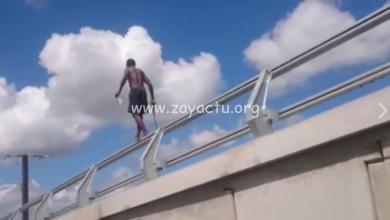 Photo of Il met sa vie en danger sur le pont de la Lézarde avec son numéro d'équilibriste