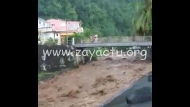 Photo of Vidéo impressionnante de la rivière en crue à Grand-Rivière, ce dimanche 30 octobre
