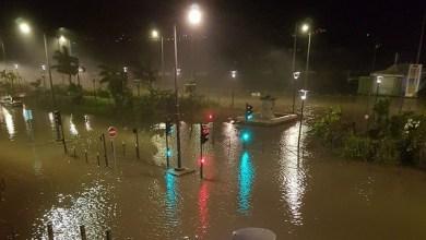 Photo of Le malécon à Fort-de-France totalement inondé cette nuit